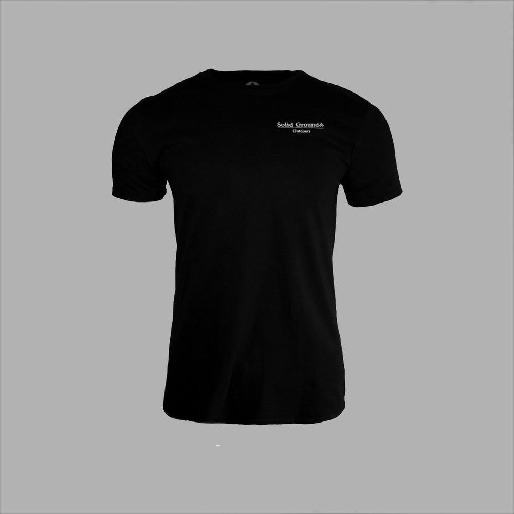 SGO Mountain Tee - Black - Solid Ground Outdoors