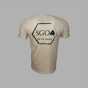 SGO - New Era Hex Tee - Beige - Solid Ground Outdoors