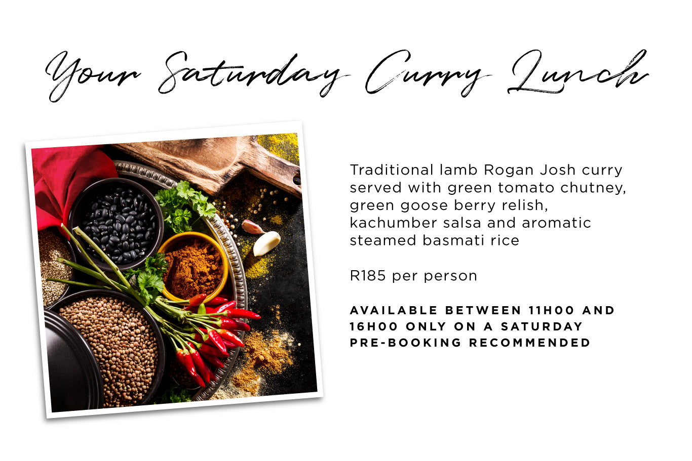 Your Saturday Curry Lunch