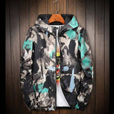 Abstract Camo Outdoor Windbreaker