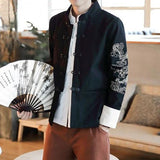 Chinese Dragon Embroidery Streetwear Coat