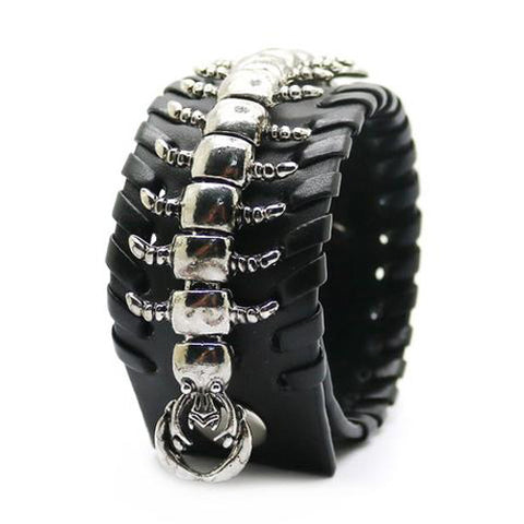 Cool Centipede Leather Bracelet