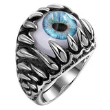 Dragon Claws Blue Evil Eyes Ring