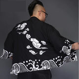 Cool Wind and Water Pattern Kimono Coat