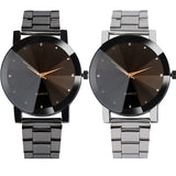 VS Gear Fashionable Men Crystal Quartz Wrist Watch