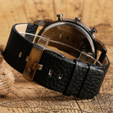 VS Gear Military Luxury Leather Strap Wristwatch