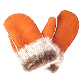 Ladies' Sheepskin Toscana Trimmed Mittens