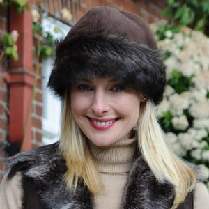 Luxurious Toscana Sheepskin Trim Hat