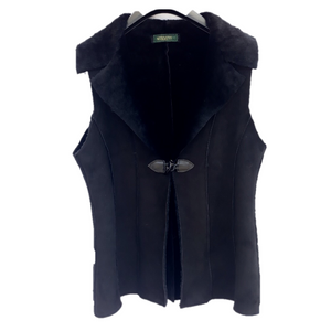 Ladies' Black Sheepskin Gilet | Lightweight | Made in Britain