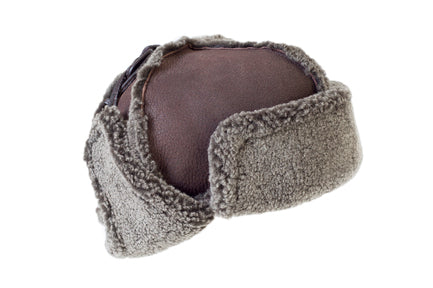 17bed83ec Sheepskin Trapper Hat with Ear Flaps and Wool Out - Unisex