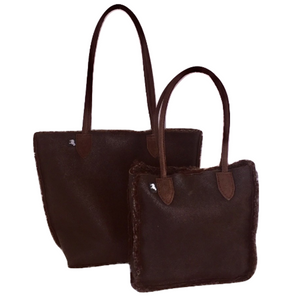 Bungay Bag in 100% Brown Tornado Sheepskin