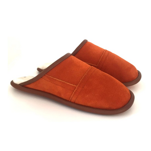 Burnt Orange Burton Slip On Sheepskin Slipper - Special Offer