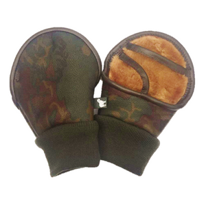 Fingerless Genuine Sheepskin Shooting Mitts in Camouflage | Handmade in UK