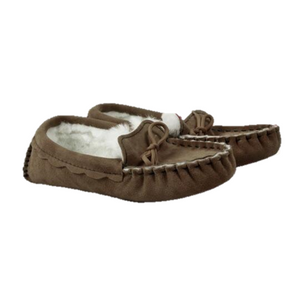 Waveney Sheepskin Moccasin Slipper in Heritage Coco