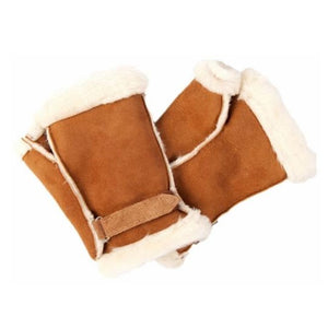Helen Skelton's Sheepskin Fingerless Gloves Mittens