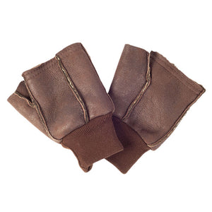 Fingerless Genuine Sheepskin Shooting Sporting Gloves