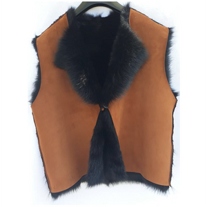 Ladies' Tan Lambskin Reversible Toscana Gilet