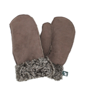 Ladies Sheepskin Mittens with Curly Wool