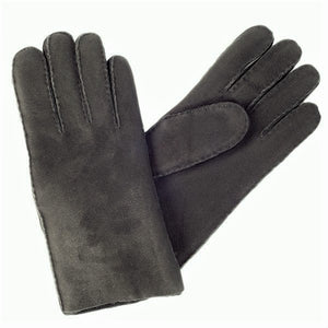 Men's Black Merino Sheepskin Gloves