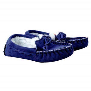 Genuine Sheepskin Moccasin Slipper in Chelsea Blue