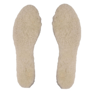 White Wool Genuine Sheepskin Insoles