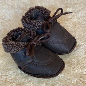 Handmade Genuine Sheepskin Baby Booties - Pram Shoes