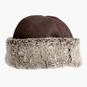 Classic Sheepskin Hat in Brown Tornado | Handmade in Britain