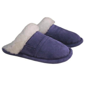 Bridgett Slip on Sheepskin Slipper With Sheepskin Trim in Traditional, Heritage Colours