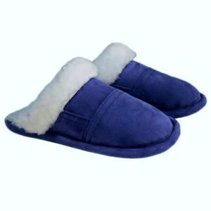 Bridgett Slip on Sheepskin Mule Slipper With Sheepskin Trim - Deluxe