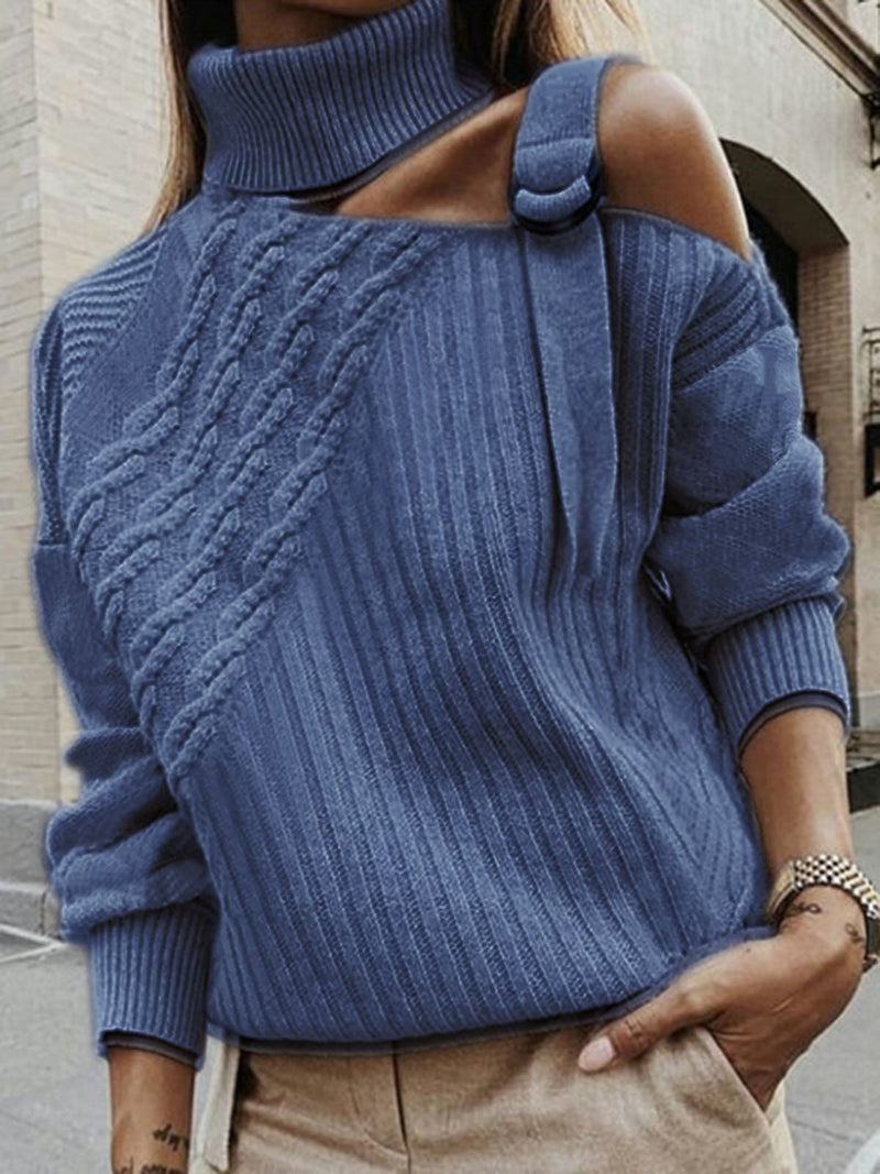 Plus Size Plain Long Sleeve Casual Sweater