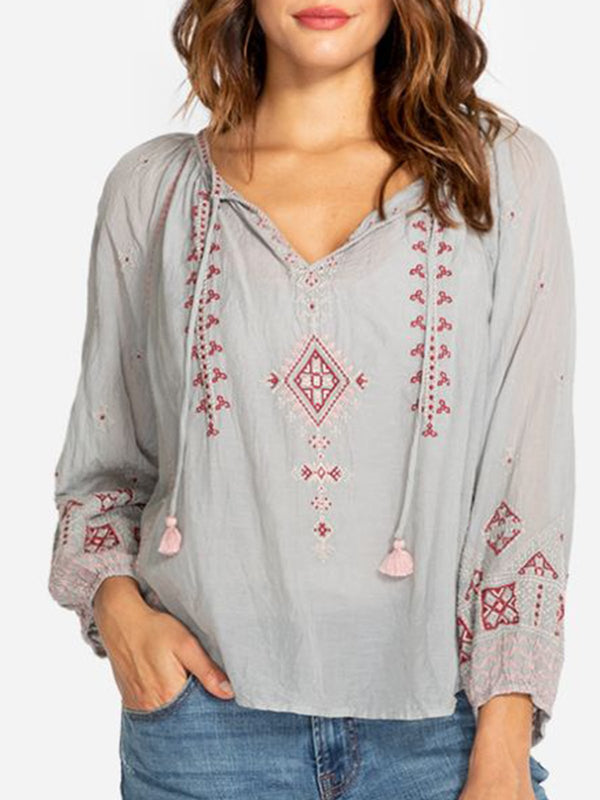 Floral-Print Cotton-Blend Casual Shirts & Tops