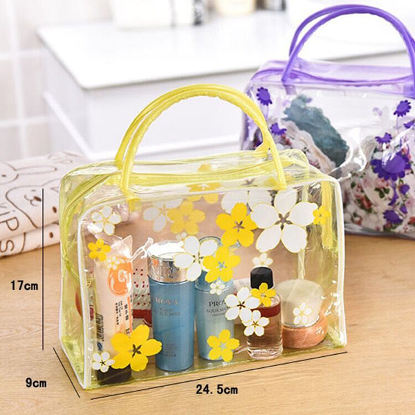 Waterproof Flower Printed Home Washing Bag Ladies Underwear Handbag Cosmetic Storage Bags