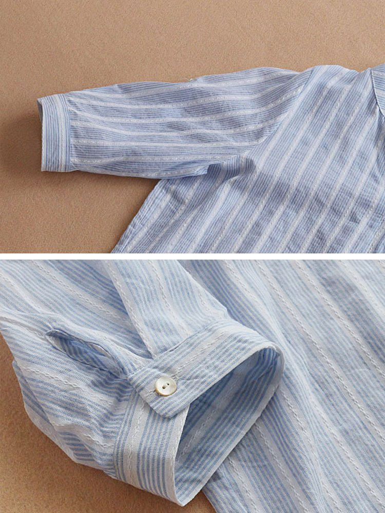 Buttoned Casual High Low V Neck Tops