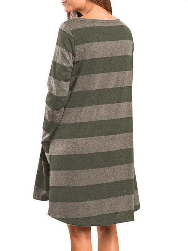 Pockets Long Sleeve Dress