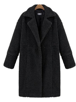 Thick Coats Long Sleeve Casual Shawl Collar Overcoat