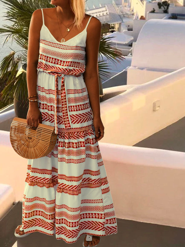 Summer Vintage Sleeveless Boho Dress
