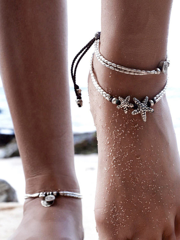Pretty Star Beach Multi-layer Water Footchain Accessories