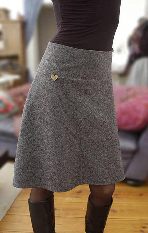 Plain Casual Cotton-Blend Skirt