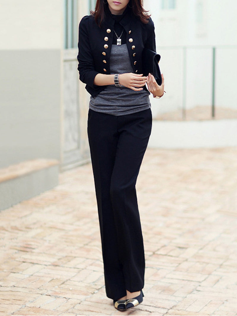 Cotton-Blend Long Sleeve Outerwear