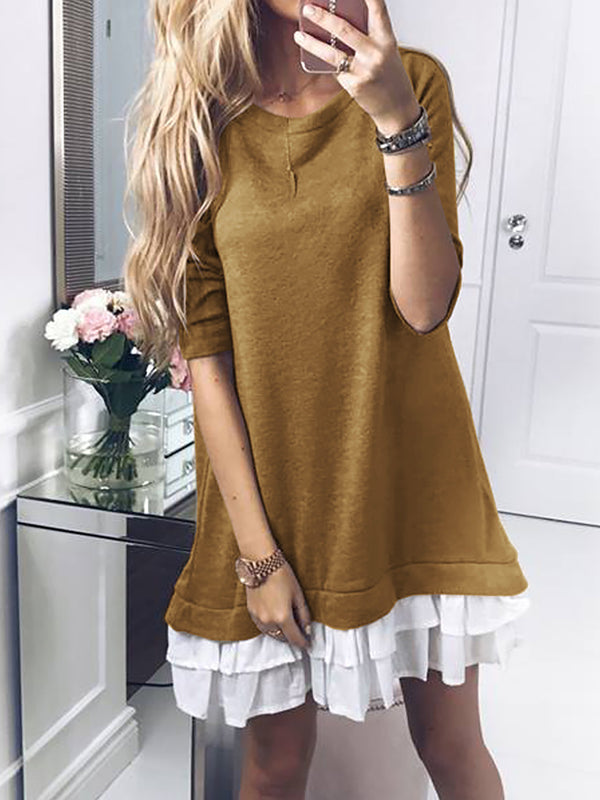 Long Sleeve A-Line Dress