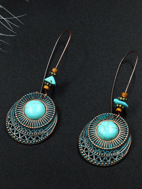 Retro Vintage Earrings Turquoise Earrings Dangle Earrings Drop Earrings
