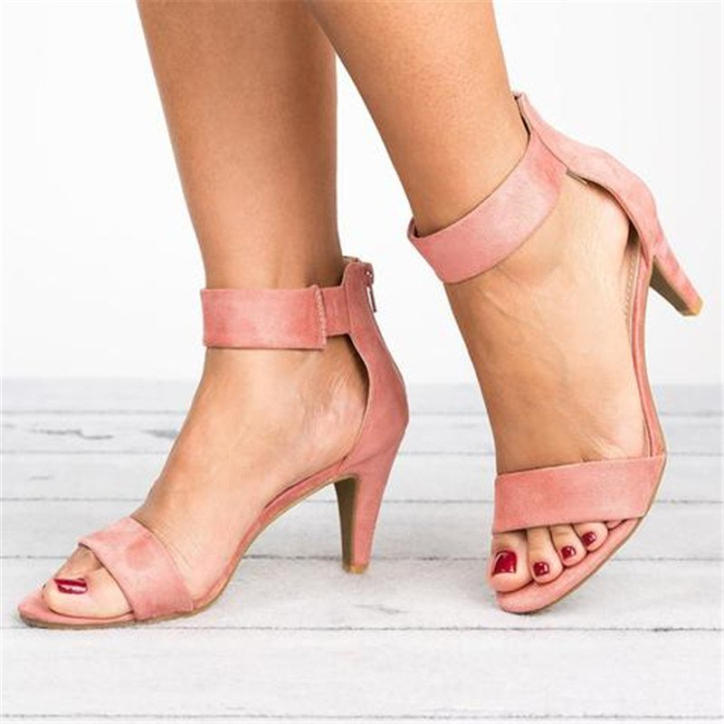 Ankle Strap Sandals - Taupe