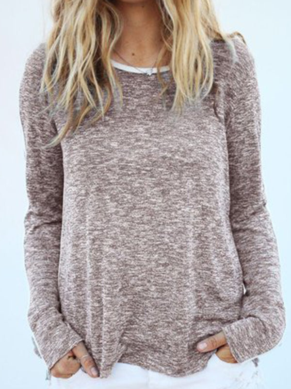 Naked Pink Solid Long Sleeve Tops