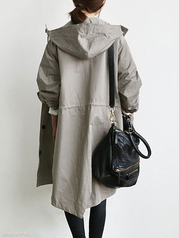 Oversize Pocket Hoodie Long Sleeve Coat