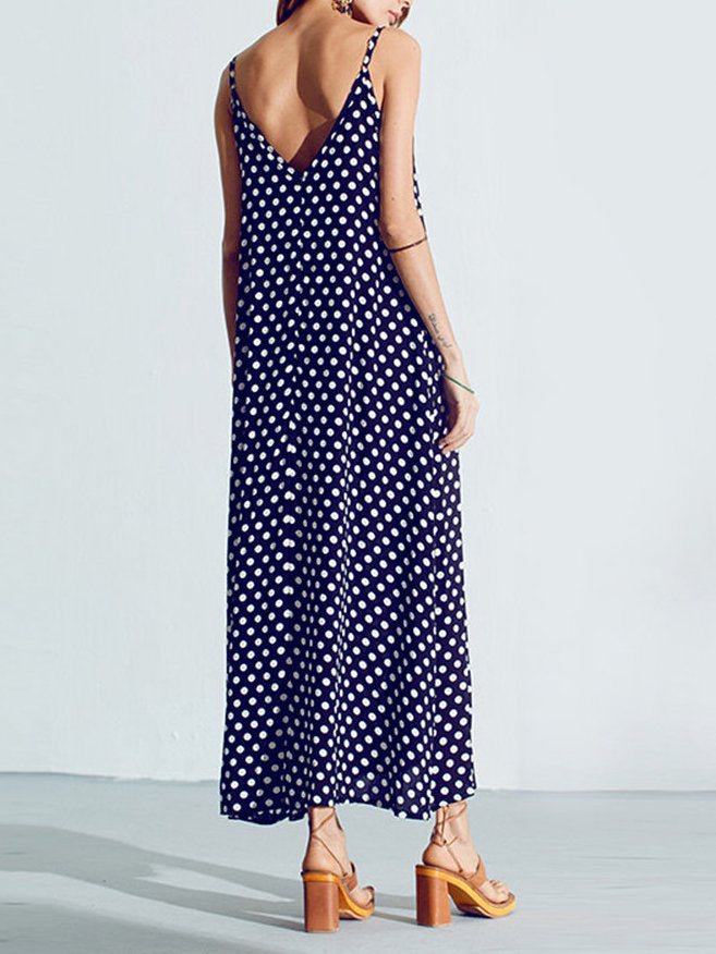 Polka Dots Cotton Sleeveless Dress