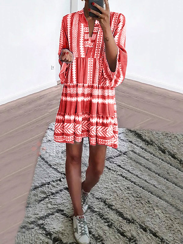 Long Sleeve Boho Dress