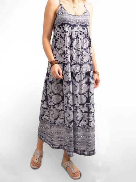 As Picture Boho Printed Dresses