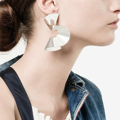 Fashion  Alloy Vintage Date Daily Asymmetric Earrings