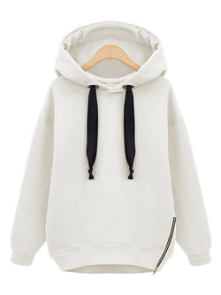 Hoodie Zipper Casual Long Sleeve Outerwear