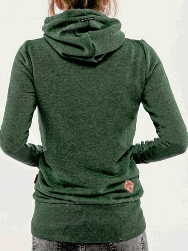 Hoodie Pockets Long Sleeve Casual Outerwear